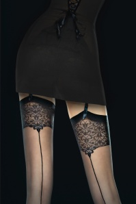 Fiorella Vesper Seamed Stockings en Noir