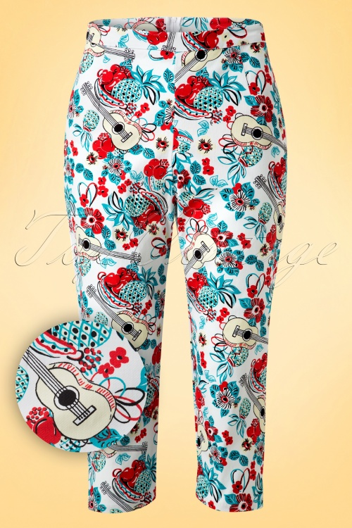 Bettie Page Clothing Honey Pop Tropical Trousers 131 59 17265 20160421  0006W1