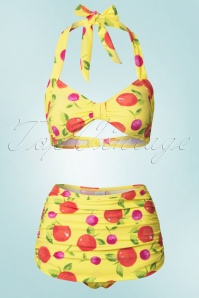 50s Delicious Multi Bikini in Yellow