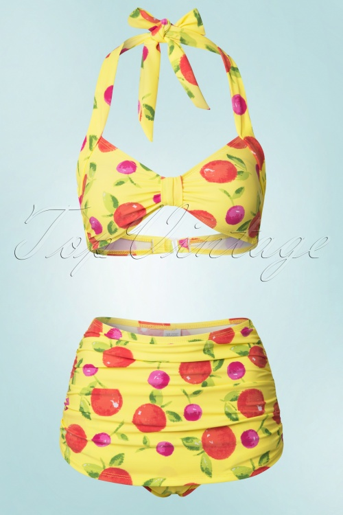 Esther Williams Delicious Yellow Fruit Bikini 160 89 18436 20160406 0007W