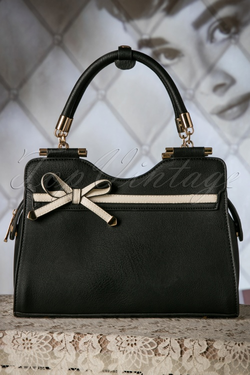 La Parisienne 40s Audrey Bag in Black 212 10 19140 04182016 019W