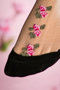 Juliette's Romance Fiori Socks in Pink 179 14 18811 20160420 0036W