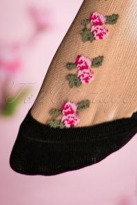 Juliette's Romance Fiori Socks in Pink 179 14 18811 20160420 0036W