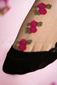Juliette's Romance Fiori Socks in Fuchsia 179 14 18812 20160420 0009W