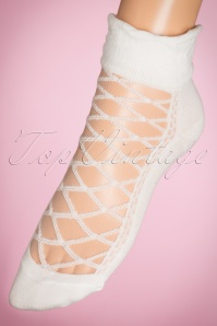 30s Victoria Socks in White