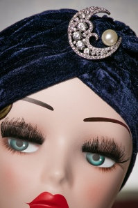 The pink Collar Life Myrna Moon Turban in Blue 202 30 18308 04202016 005