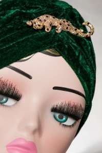 The pink Collar Life Lili Leopard Turban in Green 202 40 18307 04202016 027