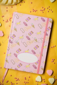 60s Peanut Butter Jelly Shoe Notebook in Pink