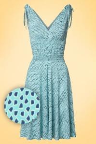Vintage Chic Grecian Aqua Blue Dress 102 39 18567 20160426 0010W1
