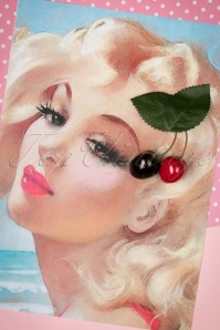 Lady Lucks Boutique REd Cherries Hair Clip 208 20 18630 04252016 009W