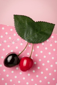 60s Delicious Cherries in Your Hair Clip