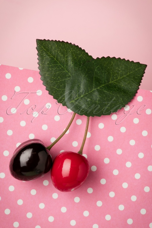 Lady Lucks Boutique REd Cherries Hair Clip 208 20 18630 04252016 003W