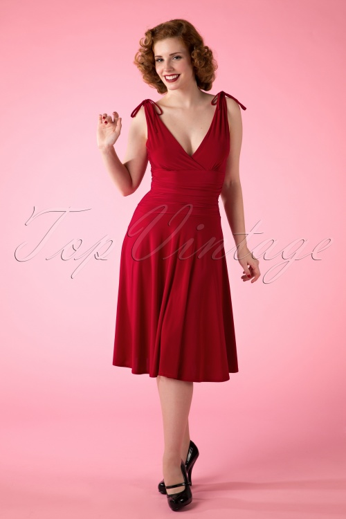 Vintage Chic Grecian Red Bow Dress 104 20 14906 20150418 0010W