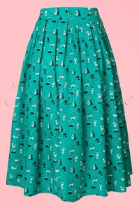 Dancing Days by Banned Turquoise Claire Kitty Skirt 122 39 17819 05022016 015w