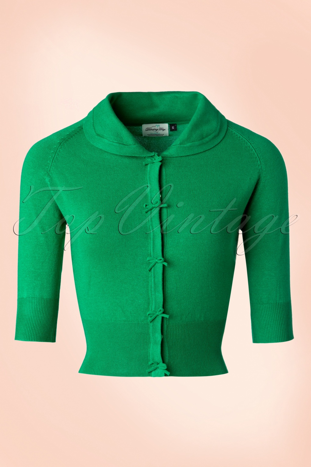 1940s Blouses, Shirts and Tops Fashion History 40s April Bow Cardigan in Green £34.70 AT vintagedancer.com