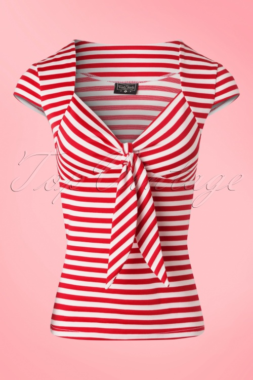 Steady Clothing Striped Sweetheart Shirt Red White 111 27 18353 20160503 0006W