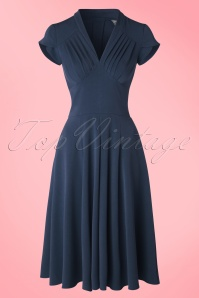 Miss Candyfloss Odette Dress in Blue 102 20 17944 20160301 0006W