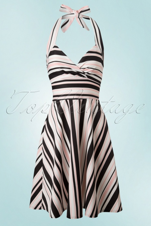 Vintage Chic Meredith Halter Striped Dress 102 59 18907 20160506 0003W