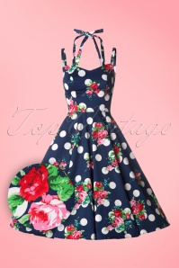 1Hearts and Roses Blue Polka Roses Swing Dress 102 39 18410 20160509 0004W