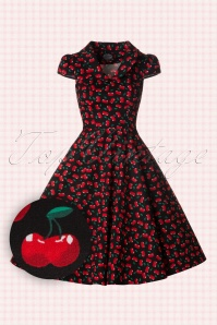 Hearts and Roses Black Cherry Swing Dress 102 14 18408 20160509 0010W1