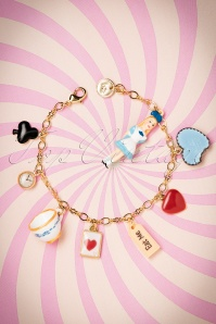 Le Tea Time D'Alice Bracelet Gold Plated Années 50