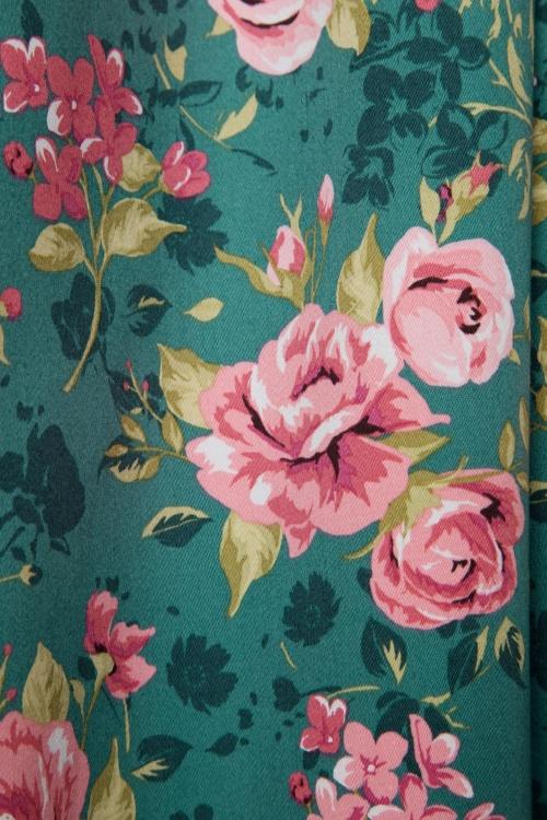 ea41027902ad5 50s Madison Summer Rose Swing Dress in Vintage Green