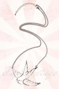 Swallow Silhoutte Necklace Silver