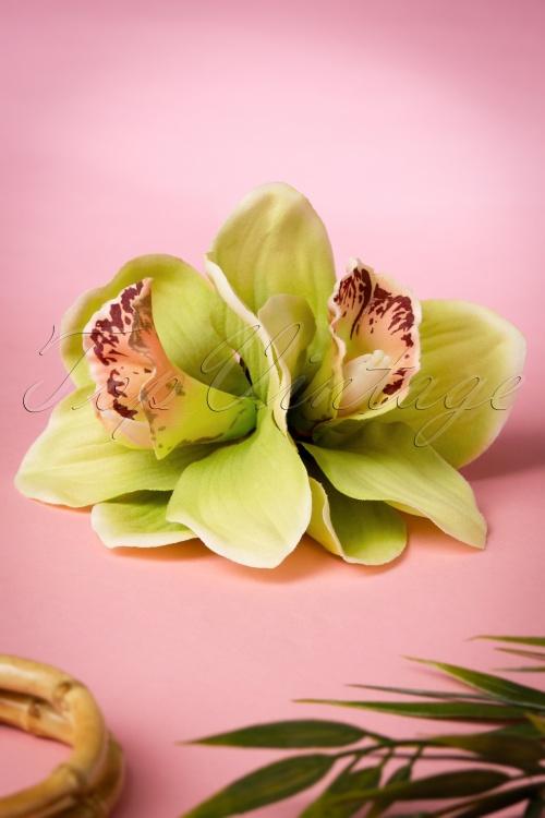 Lady Luck's Boutique Green Izabela Double Hair Flower 200 40 18653 20160510 0017W