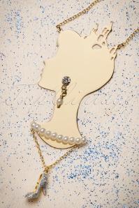 50s Soulier De Verre Cinderella Necklace Gold Plated