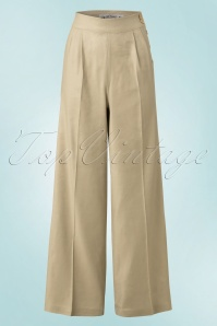 40s Honeybear Trousers in Beige