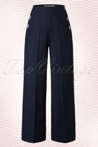 40s Riviera Sailor Trousers in Navy