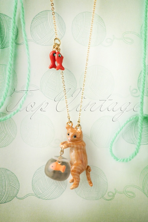 Les Néréidres  Cat and Fishbowl Necklace 301 21 18470 20160511 0058W