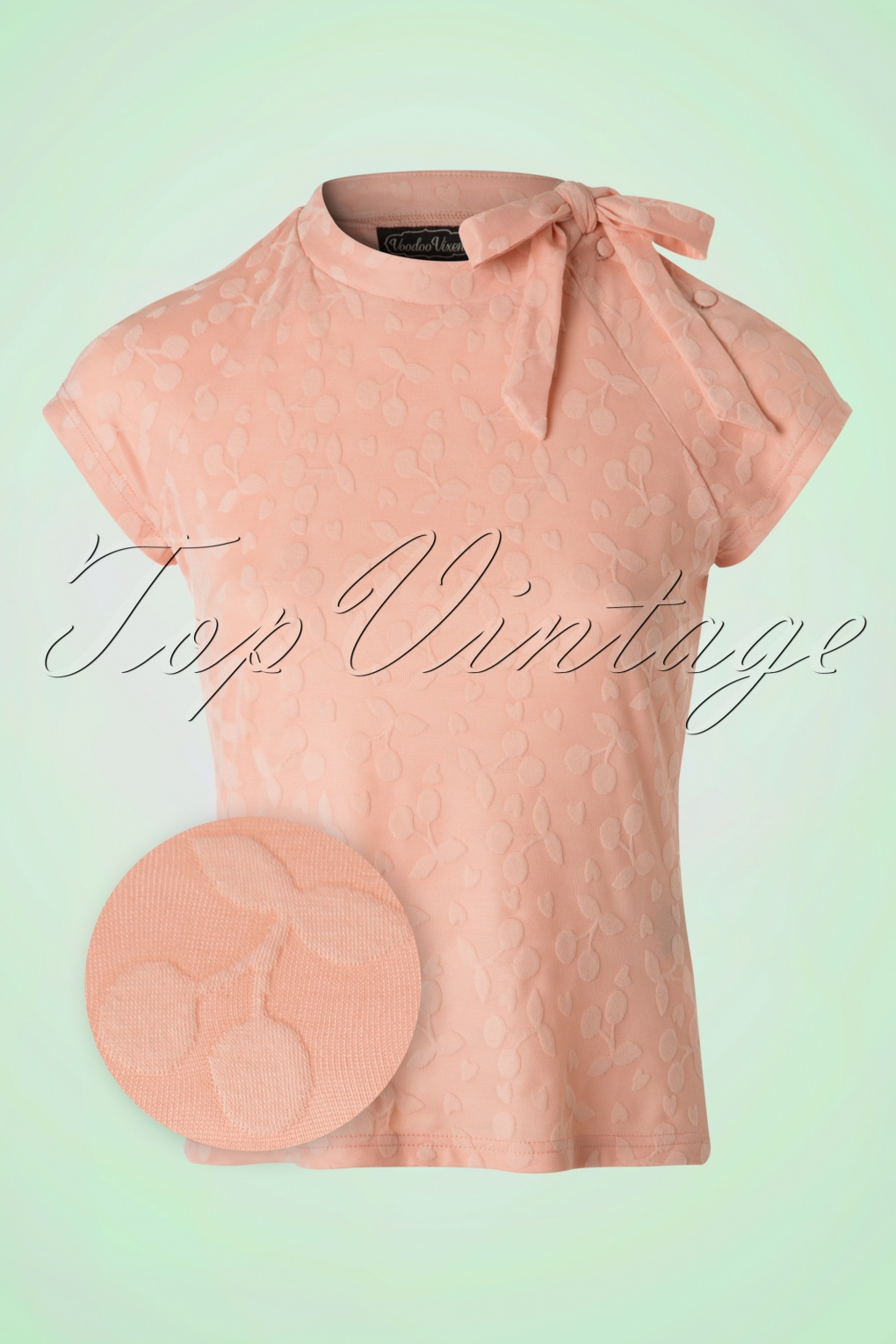 1950s Rockabilly & Pinup Tops, Shirts, Blouses 50s Ashlea Cherry Top in Pink £26.23 AT vintagedancer.com
