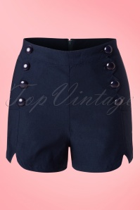50s Tanya Shorts in Navy
