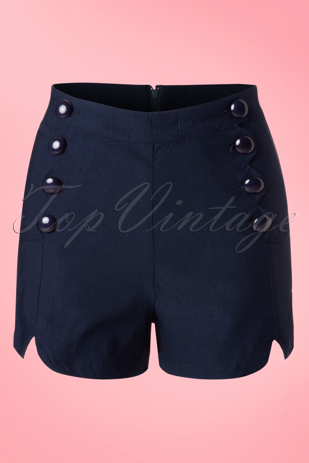 1950s Shorts History 50s Tanya Shorts in Navy £29.83 AT vintagedancer.com