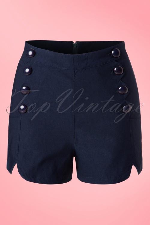 Vixen Navy Blue Shorts 130 31 18592 20160513 0005W