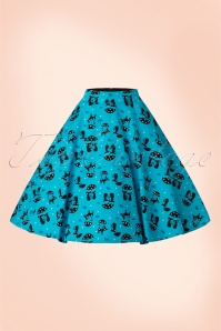 Vixen Cat in the Rain Blue Swing Skirt 122 39 17982 20160513 0006WA