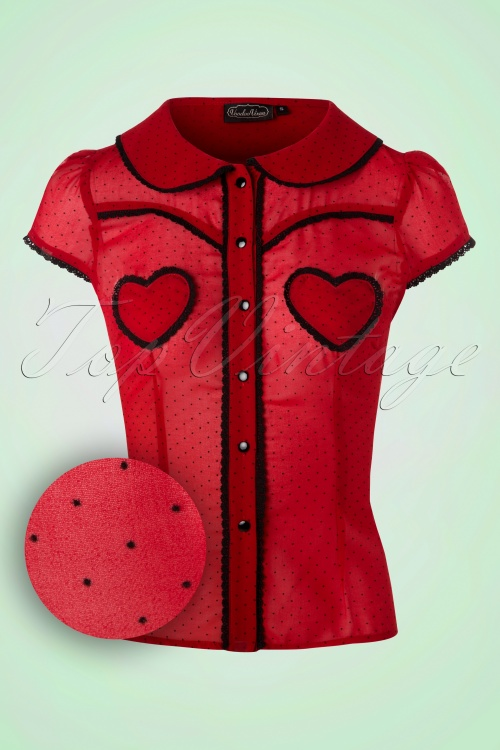Vixen Red Hearts Polkadot Top  112 27 17976 20160513 0006W1