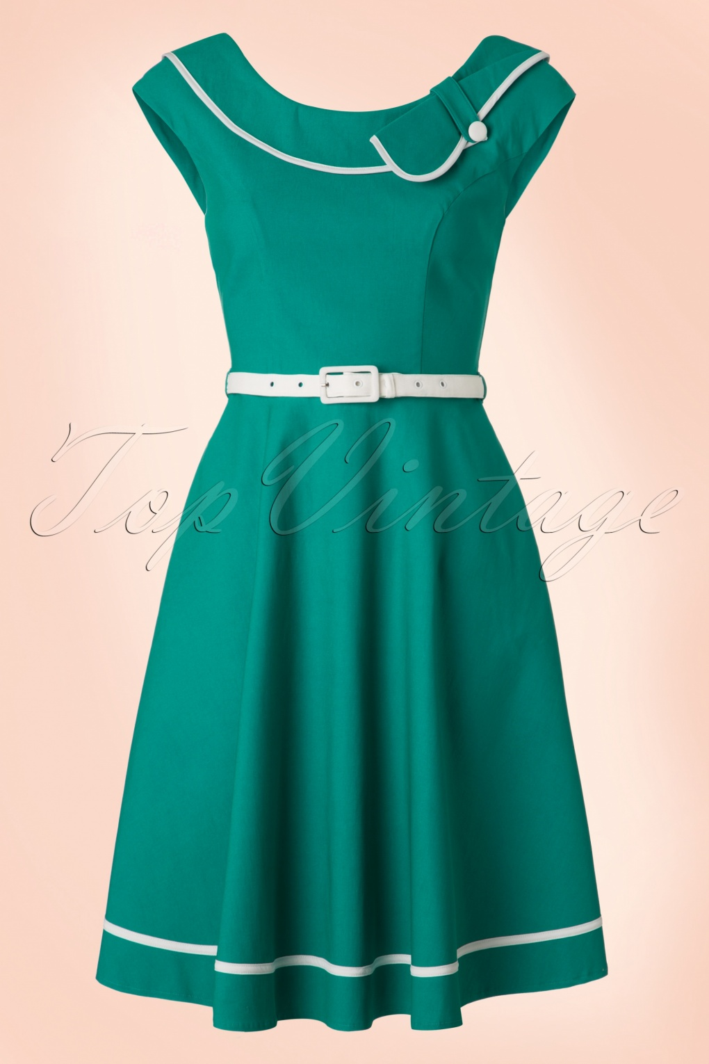 Nora Swing Dress in Turquoise
