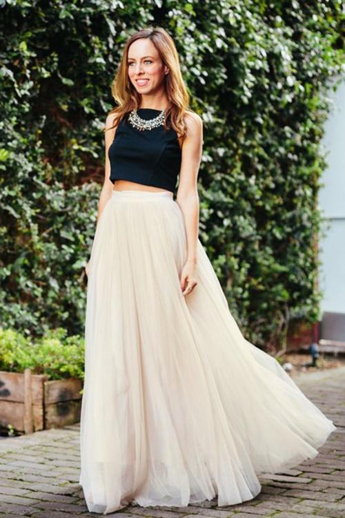 c43f281d7d Little Mistress Maxi Tulle Cream Sparkling Skirt 129 51 18625 20160518 0035