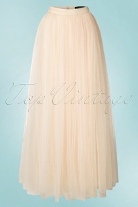 Little Mistress Maxi Tulle Cream Sparkling Skirt 129 51 18625 20160518 0026W