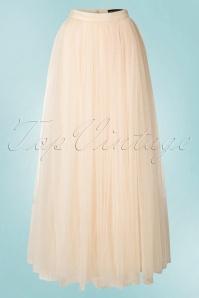 Little Mistress Maxi Tulle Cream Sparkling Skirt 129 51 18625 20160518 0026W