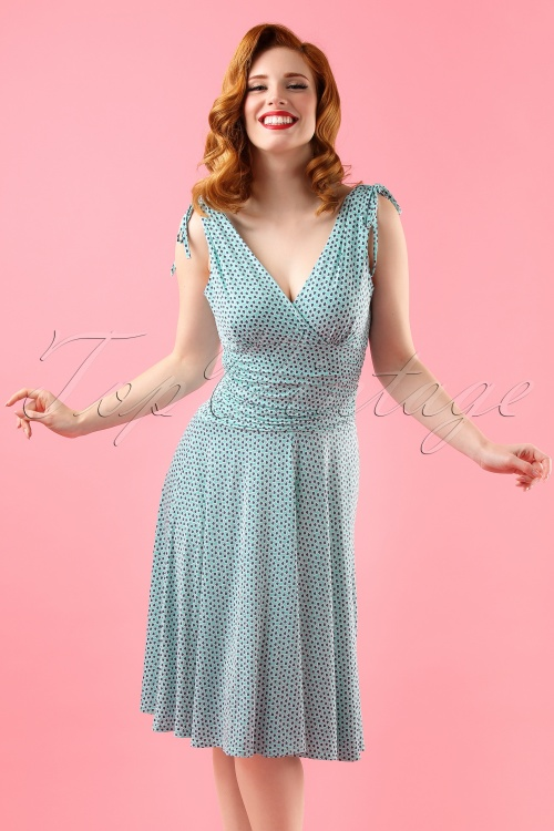 Vintage Chic Grecian Aqua Blue Dress 102 39 18567 20160426 0016W