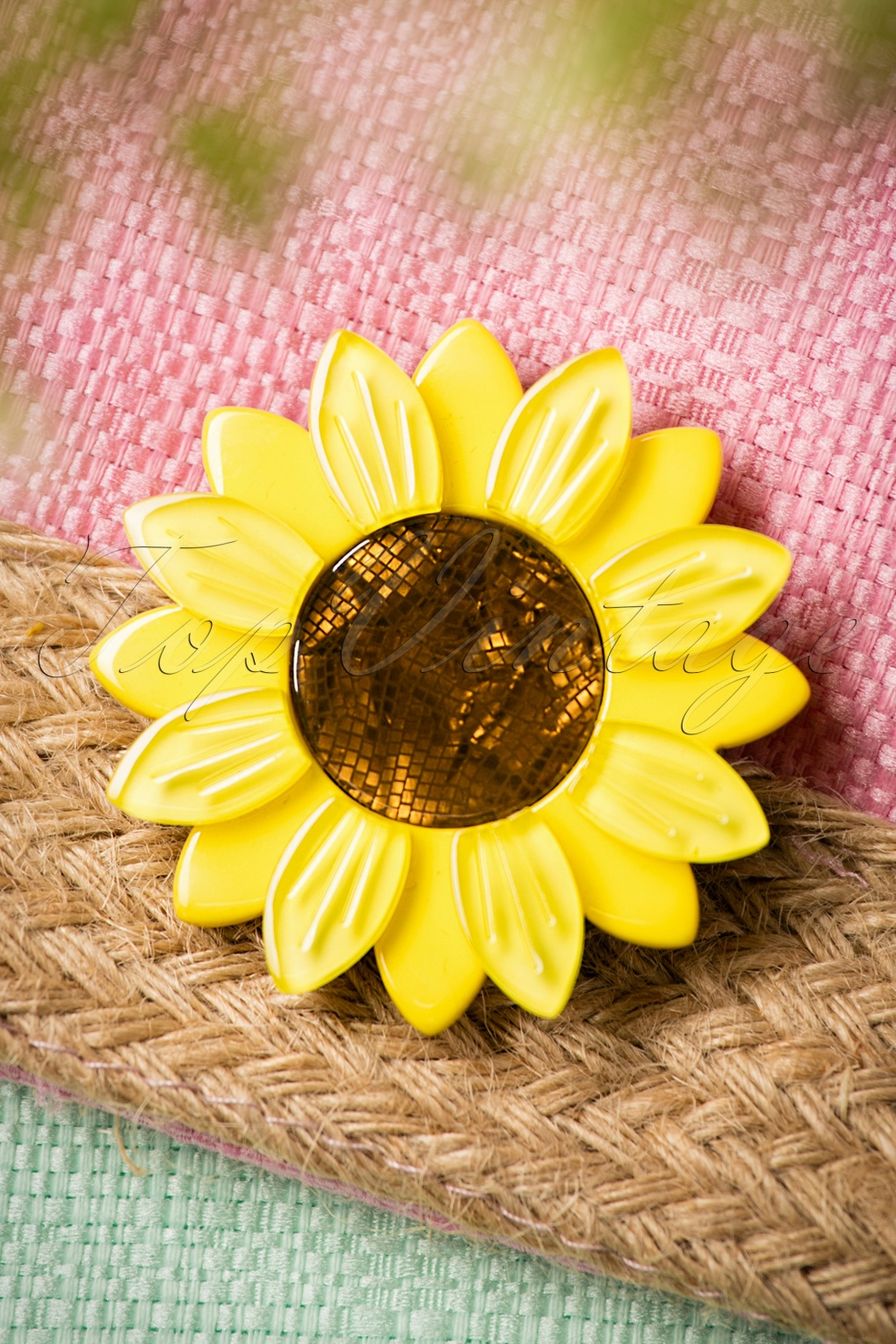 60s Sumptuous Sunflower Brooch
