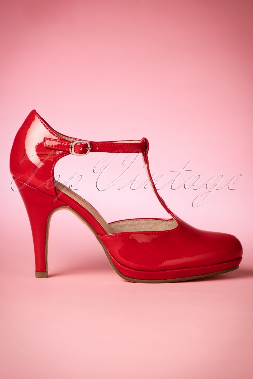 Tamaris 40s Dita Pumps in Chili 401 20 13765 05242016 009W