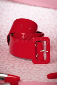 Collectif Clothing Sally Belt Plain Red 230 20 19215 05252016 019W