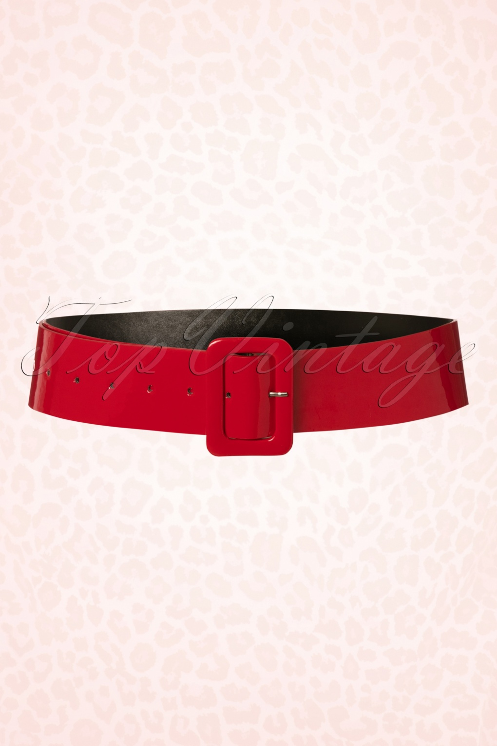 A History of Belts 1920-1960 50s Sally Patent Belt in Red £13.88 AT vintagedancer.com
