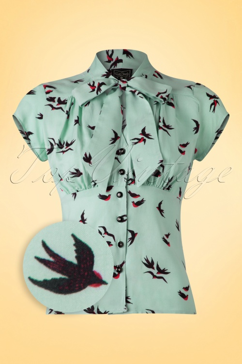 Steady Clothing Harlow Sparrow Blouse Aqua 112 39 18351 20160527 0006WV