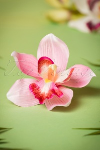 50s Pin-Up Orchid Hair Clip Pink