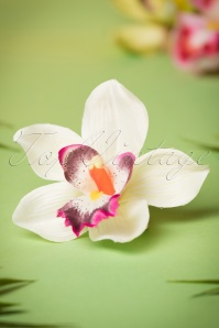 50s Pin-Up Orchid Hair Clip Ivory
